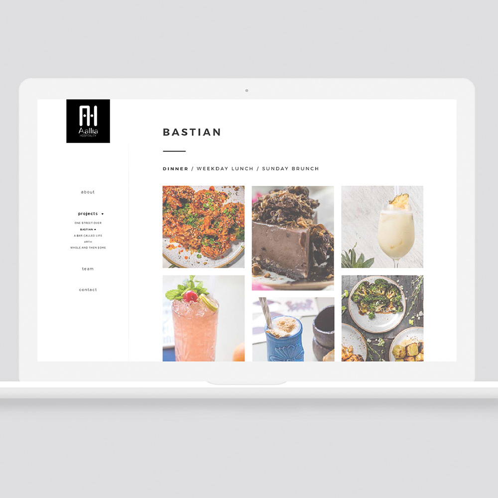Aalia Hospitality Website Design