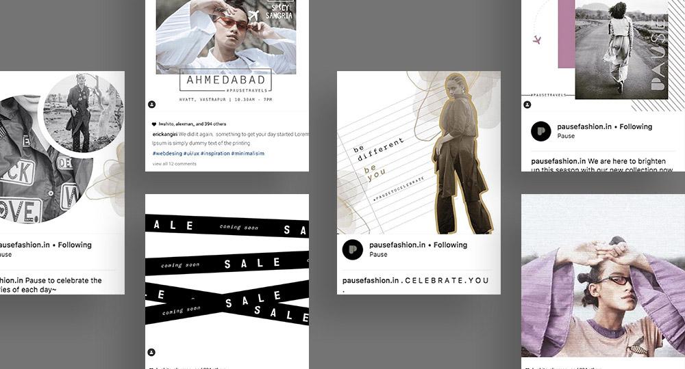 Pause Social Media Design